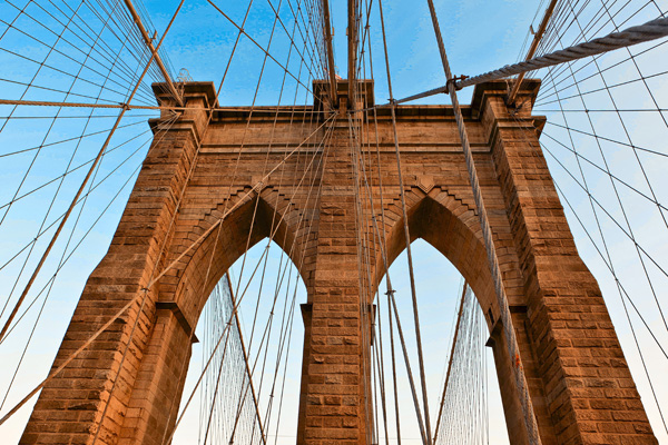 Tableau photo design Pont de Brooklyn. Tableau New York, tableau déco, tableau pas cher, tableau photo déco.Tableau photo décoration murale. Tableau toile photo