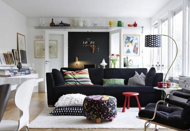 Salon Déco Petit Appartement Blanc Et Noir