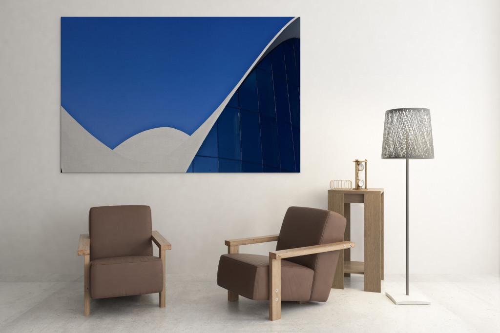 Tableau moderne Picsmyhome dans un salon design. Tableau photo déco. Tableau toile photo. Tableau photo décoration murale. Photo murale. Tableau photo pas cher