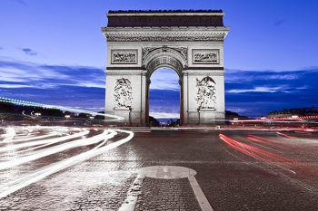 Tirage photo plexiglas Paris Arc de Triomphe