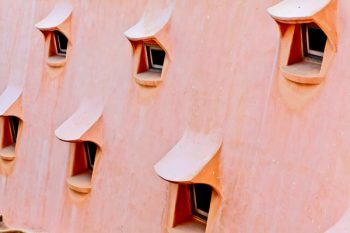 Tableau photo «fenêtres» Barcelone