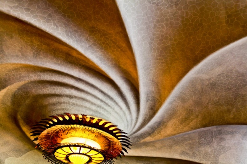 Tableau photo «plafond abstrait» Barcelone