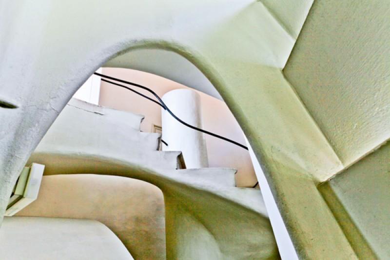 Tableau photo «escalier abstrait» Barcelone