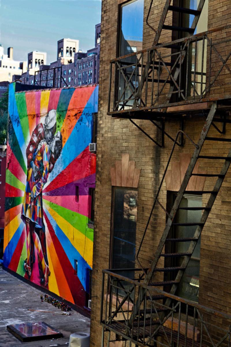 Tableau photo  graffiti New York