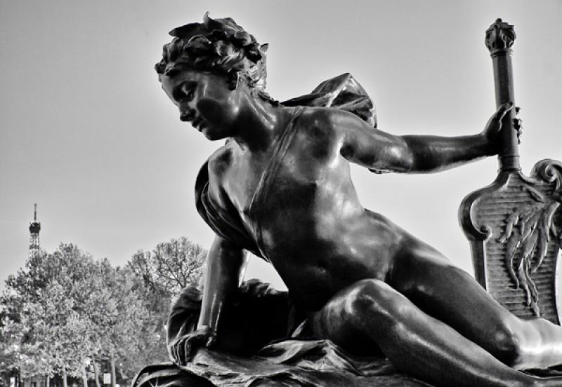 Tableau photo statue Paris
