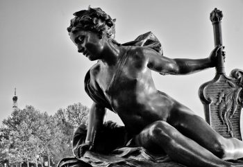 Tableau photo statue Paris